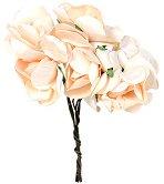 Декоративен елемент - Роза - Комплект от 6 броя