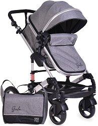 Комбинирана бебешка количка - Gala - С 4 колела -