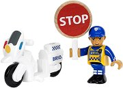 Полицейски мотор - Дървена играчки -