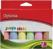 Цветни тебешири - Jumbo - Комплект от 6 броя