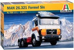 Камион влекач - MAN 26.321 Formel Six - Сглобяем модел - макет
