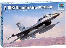 Американски изтребител - F-16B/D Fighting Falcon Block 15/30 - Сглобяем авиомодел -