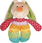 Зайче - Мека бебешка играчка с дрънкалка -