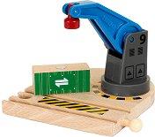 Товарен кран - Дървена играчка -