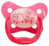 Флуоресцентна залъгалка от силикон с ортодонтична форма - PreVent - За бебета от 0 до 6 месеца -