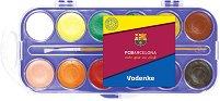 Водни бои - ФК Барселона - Палитра от 12 цвята - продукт