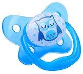 Флуоресцентна залъгалка от силикон с ортодонтична форма - PreVent - За деца над 12 месеца - залъгалка