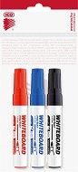 Маркери за бяла дъска с объл връх - Комплект от 3 цвята