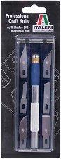 Професионален скалпел №2 - Комплект с 6 различни остриета - макет