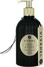 """Vivian Gray Vivanel Neroli & Ginger Cream Soap - Течен сапун в диспенсър с аромат на нероли и джинджифил от серията """"Vivanel"""" -"""