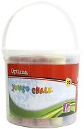 Цветни тебешири - Jumbo - Комплект от 20 броя в пластмасова кофичка