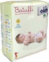 Cam Batuffi - Large 6 - Пелени за еднократна употреба за бебета с тегло от 16 до 30 kg -