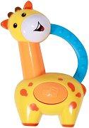 Дрънкалка - Жираф - Бебешка играчка с дъвкалка - играчка