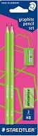 Графични моливи - Neon - Комплект от 2 броя с острилка и гума