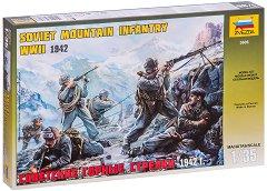 Съветска планинска кавалерия  - Комплект от 6 сглобяеми фигури -