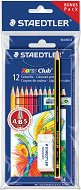 Цветни моливи - Noris - Комплект от 12 цвята с подарък графитен молив и гума