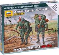 """Немски медицински персонал - Комплект от 4 сглобяеми фигури от серията """"Великата отечествена война"""" -"""