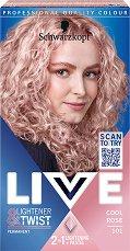 Schwarzkopf Live Lightener + Twist Permanent Color - Изрусител за коса с пастелен оттенък - фон дьо тен