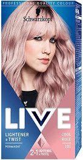 Schwarzkopf Live Lightener + Twist Permanent Color - Изрусител за коса с пастелен оттенък - серум
