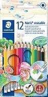 Цветни моливи с гума - Комплект от 12 или 24 цвята