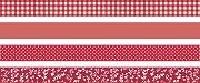 Декоративно тиксо с червени мотиви
