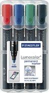 Перманентен маркер с объл връх - Lumocolor 352 - Комплект от 4 цвята