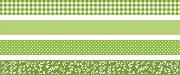 Декоративно тиксо със зелени мотиви - Комплект от 4 броя