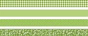 Декоративно тиксо със зелени мотиви
