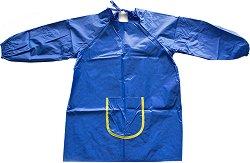 Синя детска престилка за рисуване