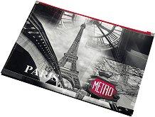 """Папка с цип - Формат А4 от серията """"Paris"""""""