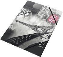 """Папка с ластик - Формат А4 от серията """"Paris"""""""