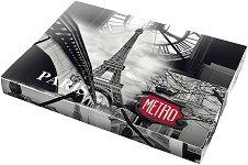 """Кутия с ластик - Размери 25 x 33 cm от серията """"Panta Plast - Paris"""""""