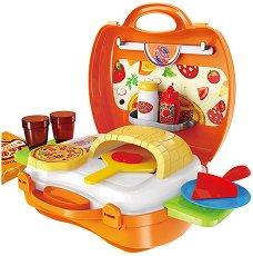 Пица - Детски комплект с аксесоари в куфар -