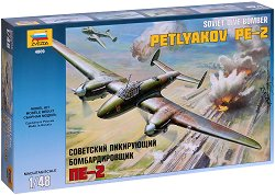 Съветски бомбардировач - Петляков Пе-2 - Сглобяем авиомодел -