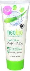 Neobio Fresh Skin Peeling - Ексфолиант за лице с мента и алое - душ гел
