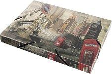 """Кутия с ластик - Размери 25 x 33 cm от серията """"Panta Plast - London"""""""
