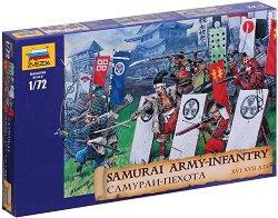 Самурайска пехота - Комплект от 44 фигури - макет