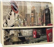 """Папка тип хармоника - Формат А4 от серията """"Panta Plast - London"""""""