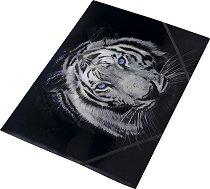 """Папка с ластик - Формат А4 от серията """"Tiger"""""""