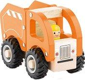 Камион за боклук - Дървена играчка -