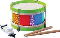Детски барабан - Дървен музикален инструмент - играчка