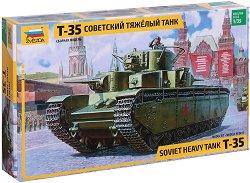 Съветски тежък танк - T-35 - Сглобяем модел - макет