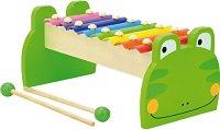 Ксилофон - Жабка - Детски музикален инструмент с 8 ноти - творчески комплект