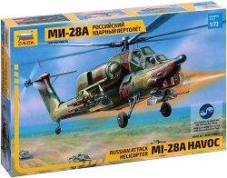 Руски хеликоптер - Ми-28 - Сглобяем модел - макет