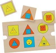 Асоциации - Форми и цветове - Дървена образователна играчка -