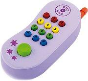 Мобилен телефон - Дървена играчка със звуков ефект -