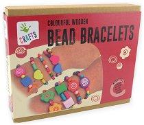 """Направи сама - Гривни с дървени мъниста - Творчески комплект от серията """"Crafts"""" - играчка"""