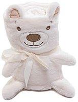 Бебешко плюшено одеяло - Мече - Размери 75 x 100 cm -