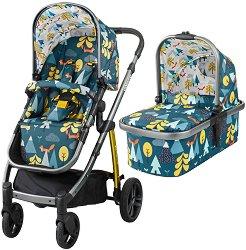 Бебешка количка 2 в 1 - Wow - С 4 колела -