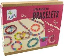 """Изплети сама - Гривни от ластици - Творчески комплект от серията """"Crafts"""" - играчка"""